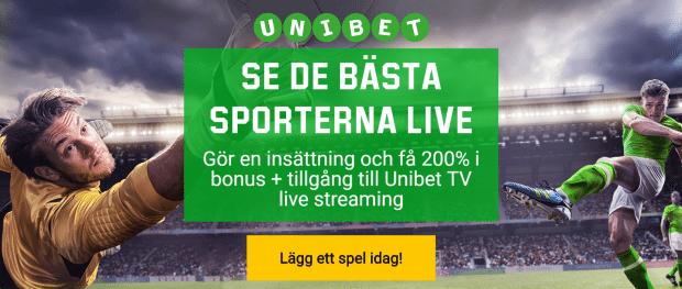Gratis Sport hos Unibet